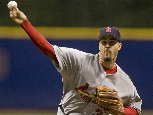 Jeff Suppan was brought to the Red Sox at the trade deadline in 2003 but failed to make the postseason roster. Suppan will make his third straight poststeason appearance in 2006 with the NL Central-winning Cardinals.