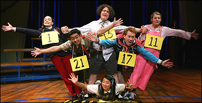 The cast of 'The 25th Annual Putnam County Spelling Bee.'
