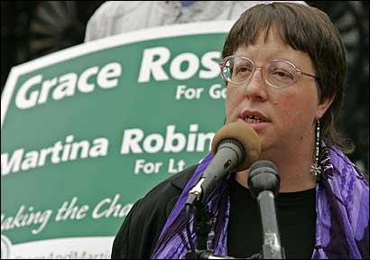 Green-Rainbow candidate Grace Ross