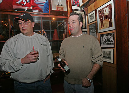 Dane Degon and Greg Gentile talked about the passing of Hall of Fame coach Red Auerbach while visiting The Fours bar on Canal Street. ''He was a local legend around here,'' Degon said.