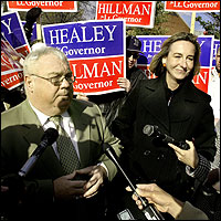 Representative Brian Wallace campaigned with Kerry Healey.