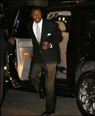 Former Boston Celtics player JoJo White arrived outside the funeral home.