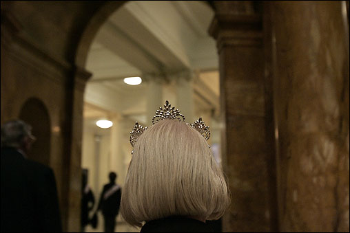 As the reigning queen, Freeman has the honor of wearing the crown.