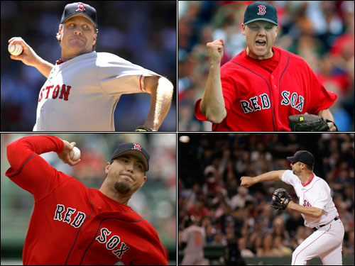 """The Red Sox began the 2006 season with """"too many"""" starting pitchers, and ended it sending guys named Gabbard and Snyder to the hill. What will the 2007 rotation look like? The Sox are off to a good start with Curt Schilling, Josh Beckett, Tim Wakefield, and Jon Papelbon penciled in, but there's no doubt they could use more help. The Globe's Gordon Edes identifies five options for the Sox, and we let you vote on which you think is best."""