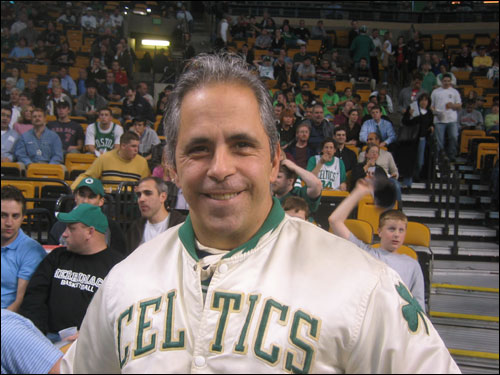 Eddie Gomes has been attending Celtics games for more than 20 years. 'This was one I had to be at,' said Gomes.