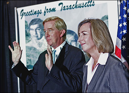 William F. Weld, a former Bay State governor, made a trip to Massachusetts yesterday to show his support for gubernatorial candidate Kerry Healey. 'I would say she is a Weld Republican,' he said.