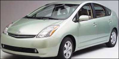 Hybrids like Toyota's Prius (above and below) can sometimes sound like George Jetson's ride.