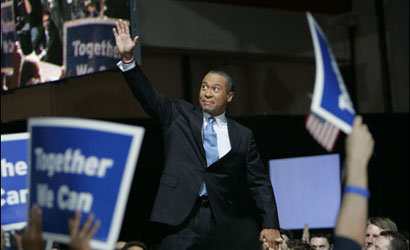 Deval Patrick elected governor of Massachusetts Nov. 7