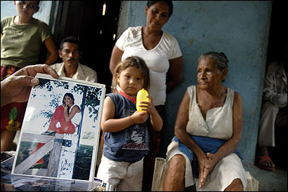 Rosa Argentina Rodríguez Bojorge (center rear) is caring for her grandson Lester Antonio Telles Bojorge, 3, whose mother died from pregnancy complications this month. The family believes doctors delayed treatment because of an anti-abortion law.