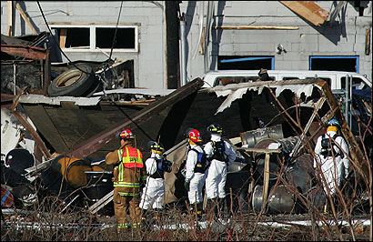State and local investigators yesterday combed the scene of the Danvers chemical plant explosion. Investigators from the US Chemical Safety Board were kept from the site.