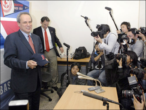 Lucchino spoke to the media at a press conference after the meeting.