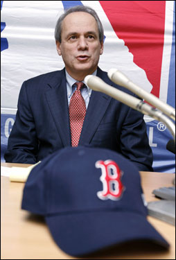 'We know it's been his dream to play in the major leagues and we are proud that he will live out his dream in Boston with the Boston Red Sox,' Lucchino said of Daisuke Matsuzaka.