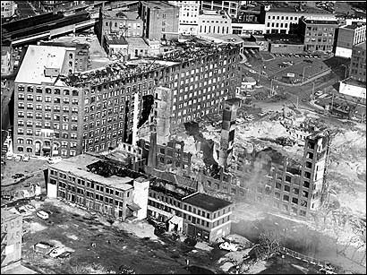 The aftermath of the massive 1981 fire in Lynn.