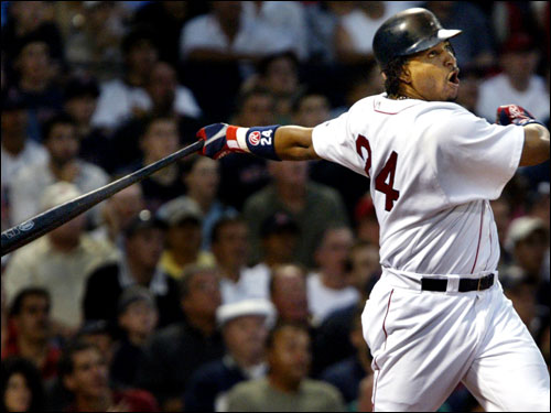 The Red Sox are once again shopping Manny Ramirez, with talks likely to continue during the winter meetings, according to the Globe's Gordon Edes. Several teams appear to be in the mix, including the Padres, Dodgers, Phillies, Giants, Orioles and Mets. Ramirez has the right to veto any trade.