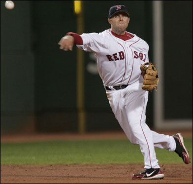 The Red Sox are unlikely to bring back Mark Loretta to play second base, which means Dustin Pedroia (pictured) may get a shot at the job. The Sox could also look elsewhere for a second baseman.