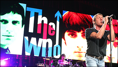 Roger Daltry leads the Who