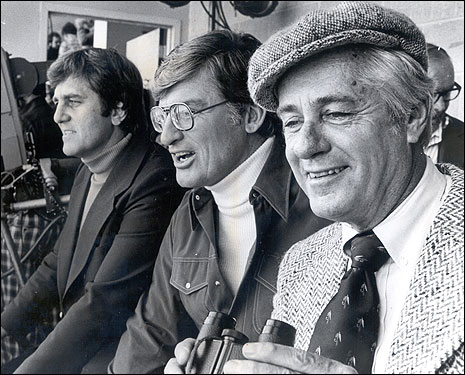 Gowdy (far right), who went from being the voice of the Red Sox for 15 seasons to becoming America's premier sportscaster in the late '60s and early '70s, died of leukemia Feb. 20 at his Palm Beach, Fla., home. He was 86. Pictured at left are ABC Broadcasters Don Meredith (left), Al DeRogatis (center), and Gowdy. &nbsp; <img src='http://cache.boston.com/bonzai-fba/File-Based_Image_Resource/dingbat_arrow_icon.gif' alt='' title='' height='9' width='4' border='0' /> Read the obituary