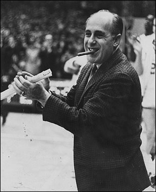 Arnold 'Red' Auerbach, who for more than half a century was the combative, competitive, and occasionally abrasive personification of pro basketball's greatest dynasty, the Boston Celtics, died Oct. 28 in the Washington area. He was 89. <img src='http://cache.boston.com/bonzai-fba/File-Based_Image_Resource/dingbat_arrow_icon.gif' alt='' title='' height='9' width='4' border='0' /> Remembering Red Auerbach