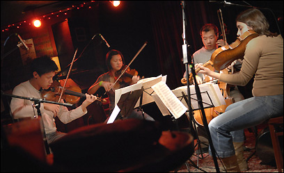 The Parker String Quartet, at the Lizard Lounge