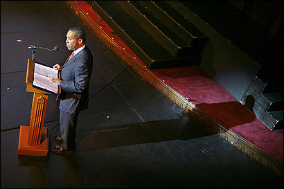Deval. L Patrick read last night from a speech by Frederick Douglass for the 200th anniversary of the African Meeting House.