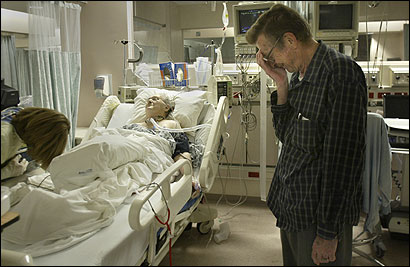 Herman Erichsen despaired as his wife, Rita, fought for breath following hip fracture surgery.