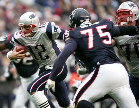 Brady picked up three yards on the run.