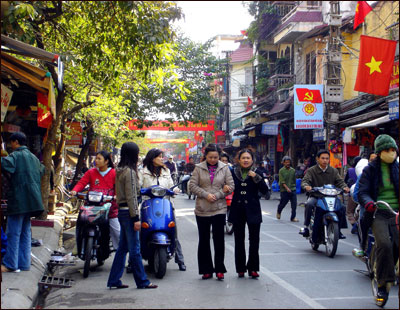 Globe writer David Abel recently took an impromptu trip to Vietnam, walking the streets of Hanoi, boating in Halong Bay, and exploring the country's rain forests. Above, an afternoon on the streets of Hanoi.