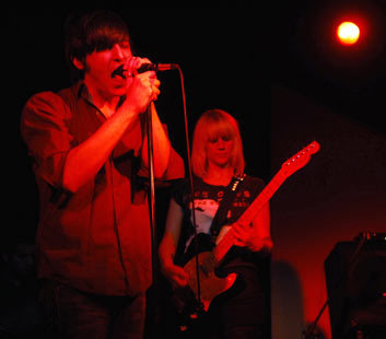 Vocalist Max Fresen and guitarist Deb Grant teamed up as the Boston-based rock group The Information played recently at Space Gallery on Congress Street in Portland, Maine.