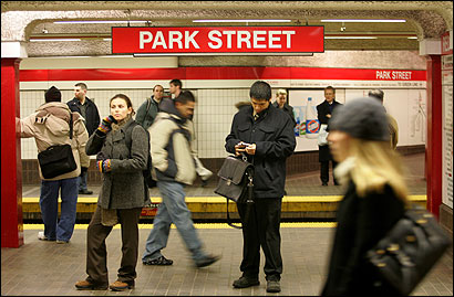 Commuters waited for a Red Line train at Park Street Station during the evening rush hour yesterday. The MBTA has been conducting random bag checks for the past 2-1/2 months in an effort to deter a terrorist attack on the mass transit system.