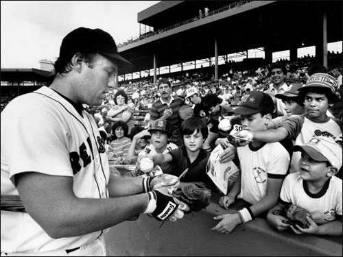 Rich Gedman, part 2 In this July 1984 photo, Gedman signed autographs for fans at Fenway. In 2005, Gedman became the manager of the Can-Am League's Worcester Tornadoes, who won the league's title in their first year of existence. He is now a coach in the Red Sox organization. Gedman's stats and facts