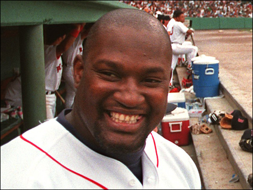 Mo Vaughn Mo was a larger-than-life figure during his eight seasons in a Red Sox uniform. He won the AL MVP in 1995, a season in which he hit 39 homers, drove in 126 runs, and batted .300. In '96, he hit a career-high 44 homers to go along with 143 RBIs. Vaughn went to the Angels as a free-agent in '99 and a series of injuries shortened his career. ( Vaughn's stats and facts )