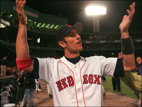 Nomar Garciaparra The five-time All-Star and longtime favorite in Red Sox Nation was one of the top players in the game during his years in Boston. As Rookie-of-the-Year in '97, he hit 30 home runs and drove in 98 runs. Nomar won the batting title for the AL in '99, hitting .357, and again in 2000, batting .372. Nomar, unhappy with his contract situation, was traded ito the Cubs in July 2004 and missed out on the World Series victory in Boston. ( Garciaparra's stats and facts )