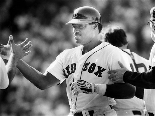 Don Baylor In the days leading up to Opening Day, Boston Dirt Dogs takes a look back the most beloved Red Sox players at each position (1967-2010), and we ask you to pick your favorite. Baylor, a big, strong hitter known for crowding the plate, played two seasons in Boston (1986-'87). In the pennant-winning '86 season, Baylor hit 31 home runs and drove in 94 for the Sox. In the '86 ALCS vs. the Angels, Baylor batted .346. ( Baylor's stats and facts )