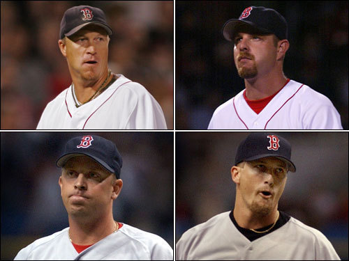 Closer by committee The ill-fated 2003 closer-by-committee bullpen group included Mike Timlin, Alan Embree, Chad Fox, Bobby Howry (all pictured) to go along with Ramiro Mendoza and Brandon Lyon. The experiment didn't last very long, with in-season acquisition Byung-Hyun Kim eventually becoming the closer before ceding the job to trade deadline pickup Scott Williamson in the playoffs.