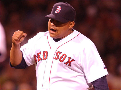 Rich Garces El Guapo, which means 'the handsome one' in Spanish, was a fan favorite at Fenway and established a passionate cult following for seven seasons. He was one of the league's best setup men for two seasons. In 1999, Garces went 5-1 with a 1.55 ERA, and earned a win in the ALDS. He then went 8-1 with 69 strikeouts in 2000. His weight and arm issues contributed to his decline and he was released by the Sox in '02. ( El Guapo's stats and facts )