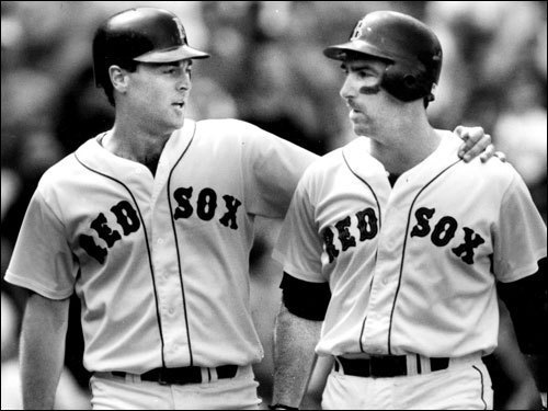 Tom Brunansky In the days leading up to Opening Day, Boston Dirt Dogs takes a look back the most beloved Red Sox players at each position (1967-2010), and we ask you to pick your favorites. Brunansky, a dependable power-hitter for the Minnesota Twins for most of the 1980s, came over to the Red Sox from the Cardinals in a 1990 trade that saw closer Lee Smith leave town for St. Louis. With the tying runs on base and the Sox holding a 3-1 lead over the White Sox in the final game of the 1990 season, 'Bruno' (pictured here on left with Jack Clark), made a spectacular diving catch in Fenway's right field corner to end the game, clinching the American League East title for the Sox. It was his signature moment in his three years in Boston. ( Brunansky's stats and facts )