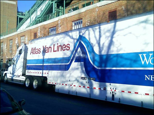 The truck arrived at Fenway at approximately 5:30 a.m. and the loading of the equipment began shortly thereafter.