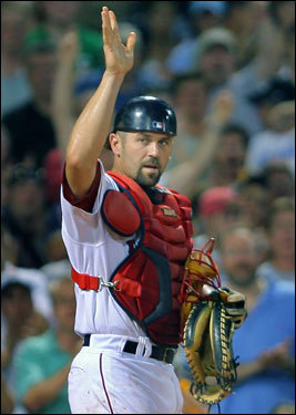 Jason Varitek, catcher Boston&#146;s most beloved catcher since 1967 is, by the slimmestofmargins, Jason Varitek. The Captain took home more 48.24 percent of the votes, which was just 0.10 percent more than runner-up and '75 World Series hero Carlton Fisk, who finished with 48.14 percent with 16,524 votes in. Varitek&#146;s leadership and no-nonsense attitude won the hearts of Red Sox fans. Favorites left off our short list altogether? Bob Montgomery, Gary Allenson, and Doug Mirabelli. &nbsp;<span class='subject'>GALLERY: <a href='http://www.boston.com/sports/baseball/redsox/gallery/boston_dirt_dogs/most_beloved_catcher'>Most Beloved catchers