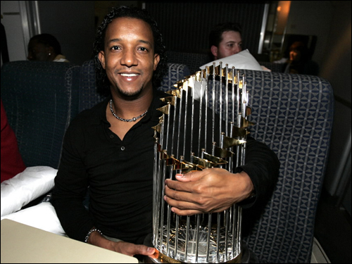 Pedro Martinez The Event... was any time Pedro took the mound in a Red Sox uniform. The dramatic Martinez is a three-time Cy Young Award winner and one of baseball's great pitchers. The engaging and quotable Martinez has the highest winning percentage for any 200-game winner, and turned in one of the most dominating seasons ever in '99, going 23-4 with 313 strikeouts and a 2.07 ERA. He left town for the Mets after the 2004 season after the Red Sox and Martinez couldn't agree on terms for a new deal. He has spoken about possibly returning to the game. ( Pedro's stats and facts )