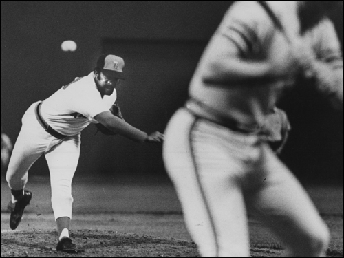 Luis Tiant 'Looie' became one of the most popular players in Red Sox history in the '70s and won 20 games three times for Boston. Tiant smoked cigars and spoke with a thick Cuban accent and was known for his complex, twisting windup on the mound. Tiant went 21-12 in '76, the last time he would win 20 games. ( Tiant's stats and facts )