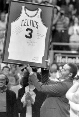 Dennis Johnson had his number retired in a ceremony at Boston Garden on Dec. 13, 1991.