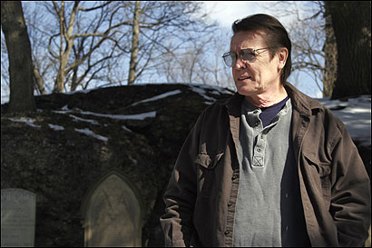 Al Maze, a veteran tour guide from Dorchester, discovered evidence suggesting that William Dawes's final resting place is in the Forest Hills Cemetery in Jamaica Plain (where he was photographed), not at King's Chapel Burying Ground in downtown Boston.