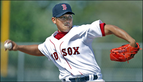 Red Sox pitcher Daisuke Matsuzaka threw batting practice Saturday morning for the first time this spring.