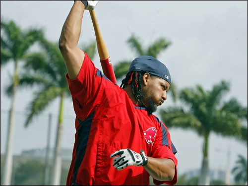 Manny Ramirez made his spring training debut for the Sox Friday afternoon vs. Toronto.
