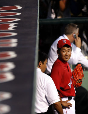 It was a fairly successful debut for Matsuzaka.