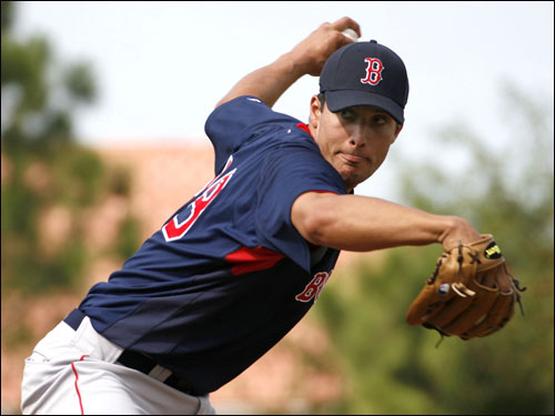 Javier Lopez pitched for the Red Sox