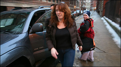 Susan Luongo picked up her husband and son in the North End.