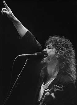 Brad Delp performs at the Worcester Centrum in 1987.