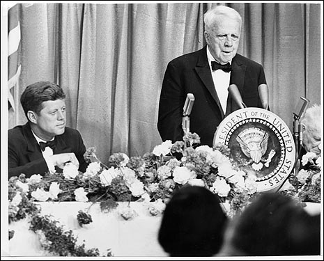 Katharine O'Keefe O'Mahoney came to Boston from Kilkenny as an infant in 1852 and became a mentor to Robert Frost (shown at right with President Kennedy) at Lawrence High School where she taught poetry.