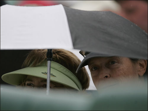 Baseball fans were caught in the rain Friday.